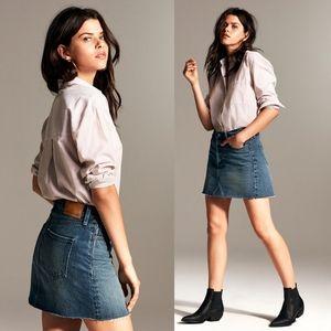 Aritzia denim forum the Edie mini skirt